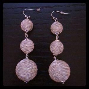 Club Monaco Silver Bauble Earrings